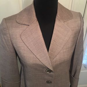 Tahari neutral colored cropped jacket, size 2P